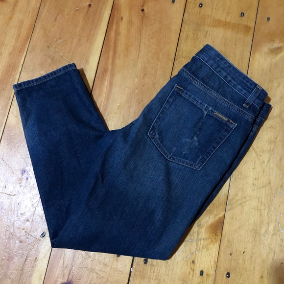 Michael Kors Denim - Michael Kors Distressed Boyfriend Crop Jeans